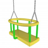 Child-safe Swing, 3D Illustration