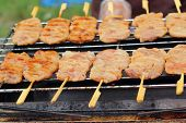 Bar-b-q Or Bbq Grill Of Meat