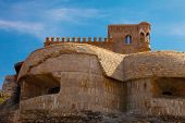 picture of tarifa  - Stone rampart near the old fort in Tarifa Spain - JPG