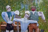 Happy Scarecrow Family