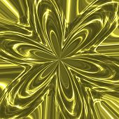 Twinkling Metallic Flower In Green