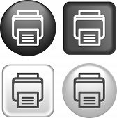 Printer Icon On Buttons Collection
