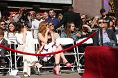LOS ANGELES - NOV 17:  Anne Hathaway, Jessica Chastain at the Matthew McConaughey Hollywood Walk of Fame Star Ceremony at the Hollywood & Highland on November 17, 2014 in Los Angeles, CA