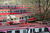 Czestochowa, Poland - October 21, 2014: Old And Not Used Pkp Trains On Sidetrack Awaiting Sale Near