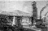 Swansea Canal, Vintage Engraving.