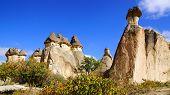 stock photo of chimney rock  - Picturesque landscape with Fairy chimneys - JPG