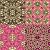 Four Seamless Floral Textures