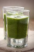 Green Smoothie In A Shot Glass