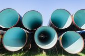 Постер, плакат: Pipes Large Stacked Engineering