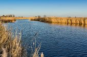 A Beautiful Of River Landscape Of Before Sunset