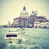 Grand Canal in Venice, Italy. Instagram style filtred image
