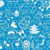 Christmas vector seamless pattern