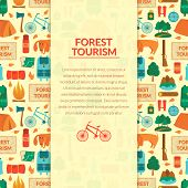 Camping equipment, vector background