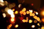 Christmas background of bokeh lights