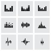 Vector music soundwave icon set