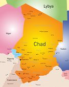 picture of chad  - Vector color map of Chad - JPG