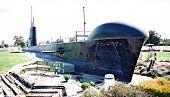 A submarine on land!