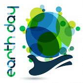 foto of save earth  - Abstract vector illustration background - JPG