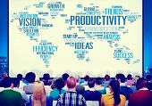 foto of productivity  - Productivity Vision Idea Efficiency Growth Success Solution Concept - JPG