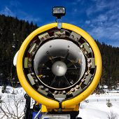 Постер, плакат: Snow Cannon For Production Of Snow On Ski Slopes