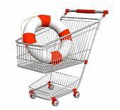 Lifebuoy In Shopping Cart