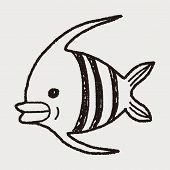 picture of angelfish  - Doodle Angelfish - JPG