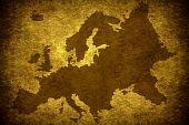 Mapa europeu de grunge