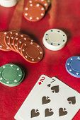 picture of poker hand  - Losing poker hand for this gambling addicts card game - JPG