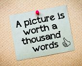 image of recycled paper  - A picture is worth a thousand words Message - JPG