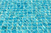Waves On A Surface Of Water In Pool