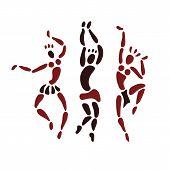 foto of primitive  - Figures of African dancers - JPG