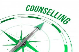 picture of counseling  - The word counselling against compass - JPG