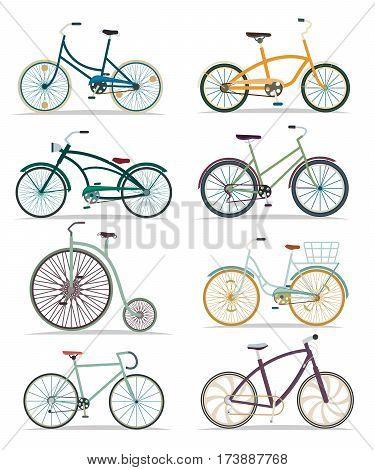 Bicycle set isolated