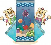 New Year with Tiger Character
