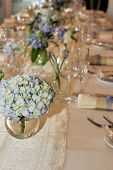 Flowers And Place Setting