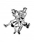 stock photo of rockabilly  - Swing Dancers At The Hop  - JPG