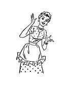Happy Hausfrau - Retro ClipArt