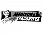 Mealtime Favorites - Breakfast Banner - Retro Clip Art