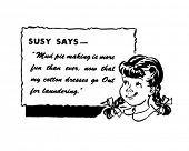 Susy Says - Retro Spokesgirl - Clip Art