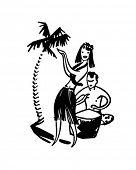 stock photo of hula dancer  - Hawaiian Couple  - JPG