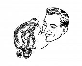 Loving Couple - Retro Clip Art