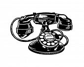 Retro Telephone 2 - Clip Art