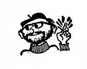Beatnik - Retro Clip Art