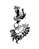 Calypso Dancer - Retro Clip Art