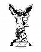 stock photo of cherubim  - Angel Statue  - JPG