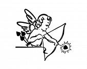 picture of cherubim  - Cupid Shooting Arrow  - JPG