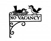 No Vacancy Sign - Retro Clipart Illustration