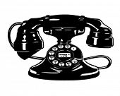 Retro Telephone 4 - Clipart Illustration