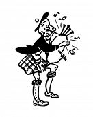 Bagpiper 2 - Retro Clipart Illustration