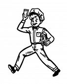 Milk Boy - Retro Clipart Illustration